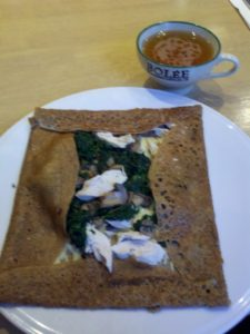 chicken Spinach Crepe